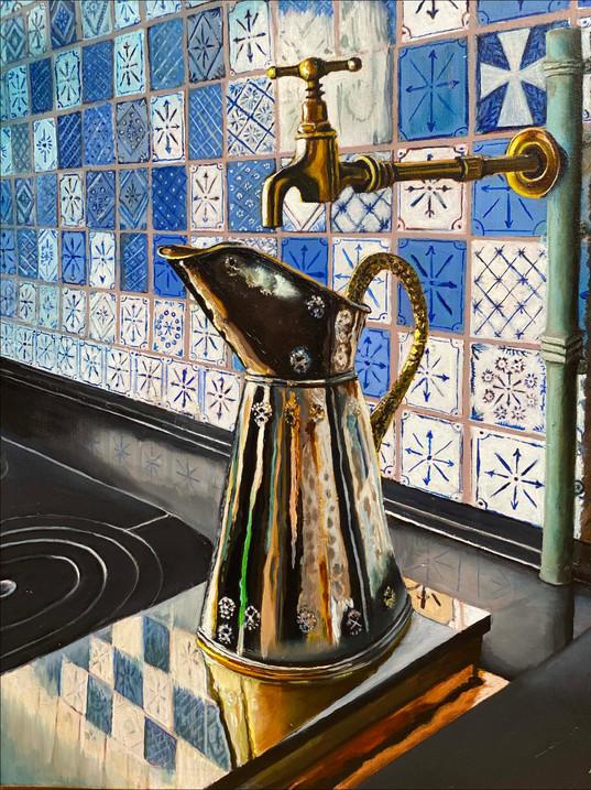 "Monet's Kitchen, 28"" x 22"""