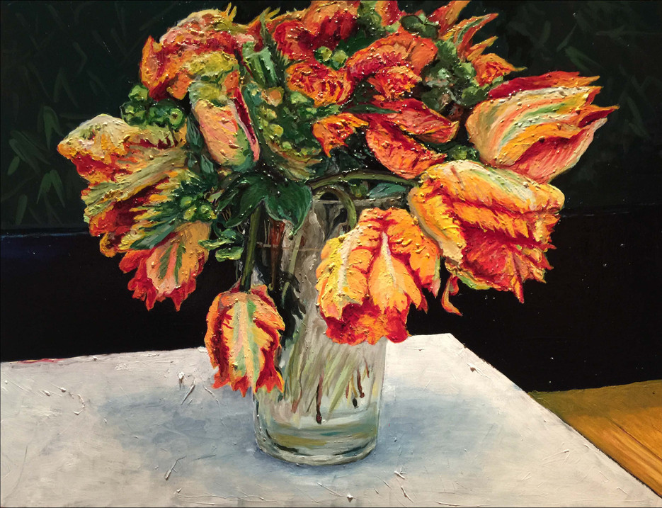 """French Tulips in Amsterdam, 30"""" x 36"""""""