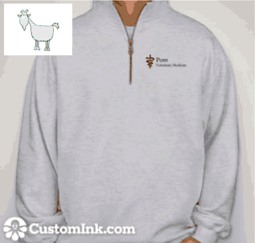 Penn Vet 1/4 Zip Sweatshirt - Light Grey