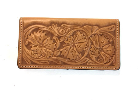 Tooled Check Book Cover