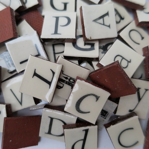 Scrabble sized ceramic lettering
