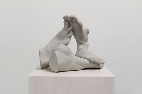Feet Collage # 4, Pigmented Clay, 18 x 1