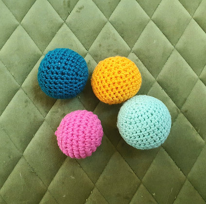 Crochet Ball Cat Toy with catnip