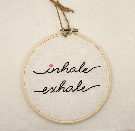 Embroidery Hoop framed quote