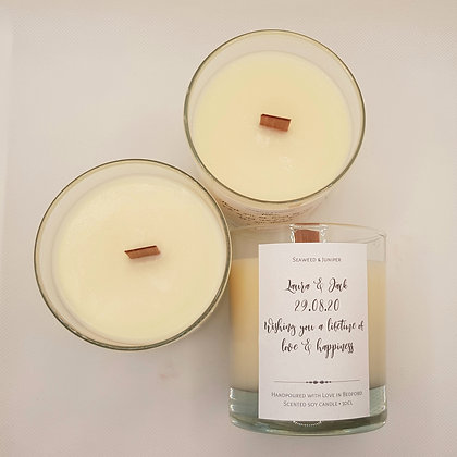 Personalised Scented Soy Candle - 30cl