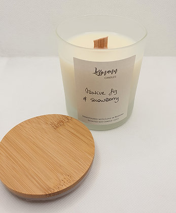 Large Scented Soy Candle - 30cl frosted glass with a lid