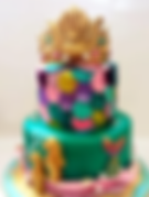Fondant Cake - Royal Mermaid.png
