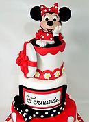 Fondant Cake - Minnie Present