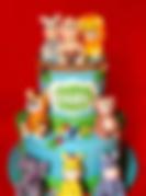 Fondant Cake - Jungle Babys