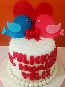 Fondant Cake - Pajaritos Enamorados