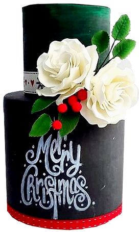 Chalk Cake - Merry Christmas Trans.png