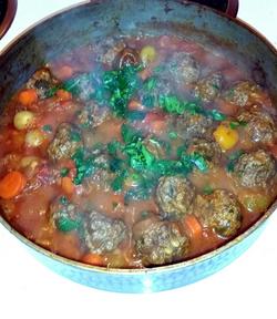 Moroccan Meat Balls Tomato Sauce
