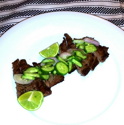 Flat Skirt Steak Egyptian Cucumber