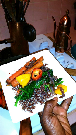 Quinoa Jollof Rice Vegetables