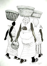 African Art Theme Greeting Cards   Anabasua