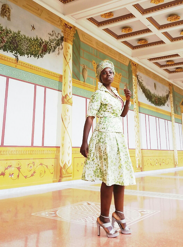 Vintage Outfit Stylish Top Skirt At The Getty Villa | Anabasua