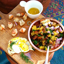 Fingerling Potato Shrimp Eggs