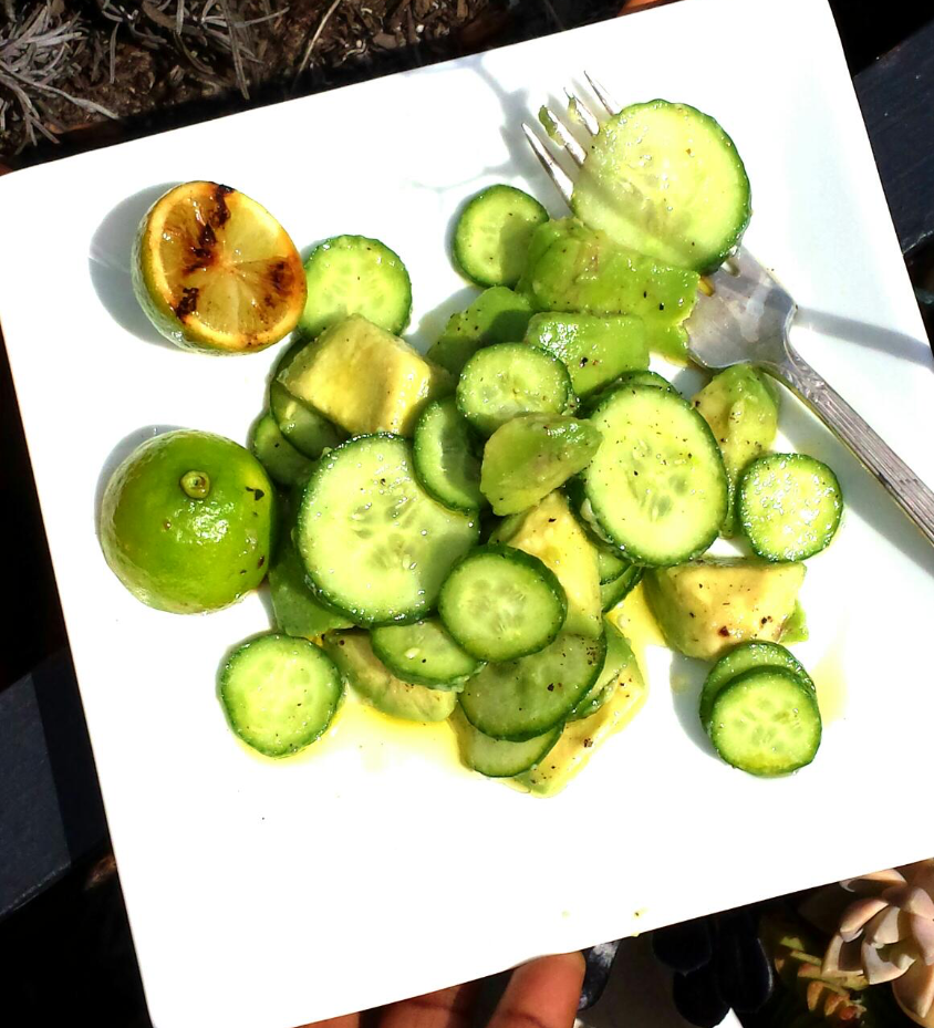 Egyptian Cucumber Salad Avocado