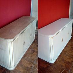 Envelopamento de armario com branco fosco