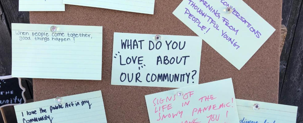 Community Messages at River of Peace Unveiling