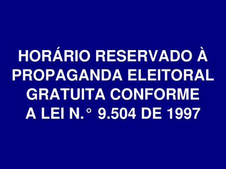Tempo de propaganda eleitoral nas eleições de 2020 e planilha para cálculo automático.