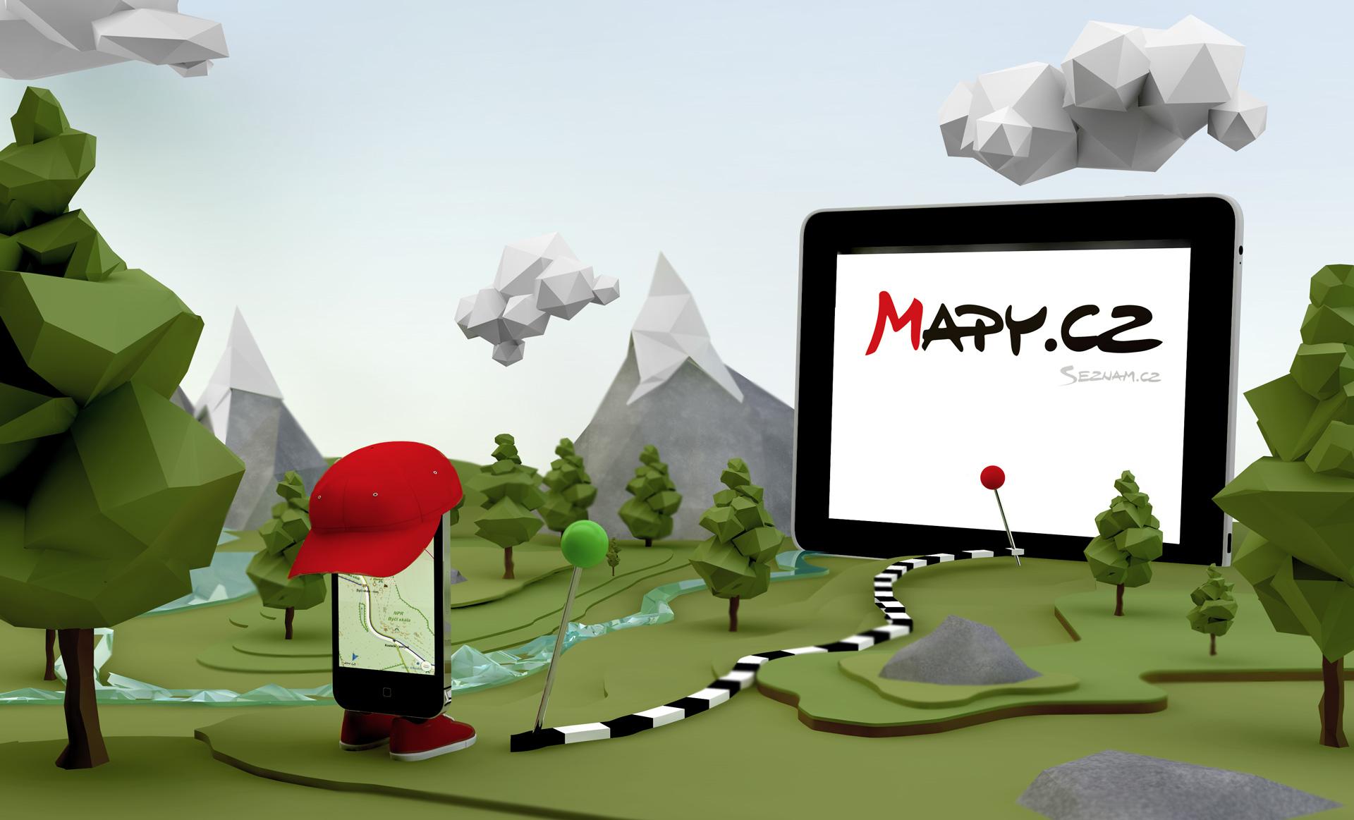 Vizuál aplikace Mapy.cz
