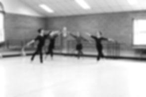ballet studio with adult dancers