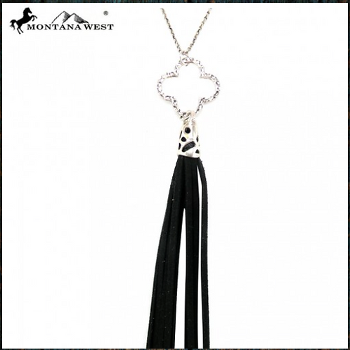 Cut-Out Clover Shape With Tassel