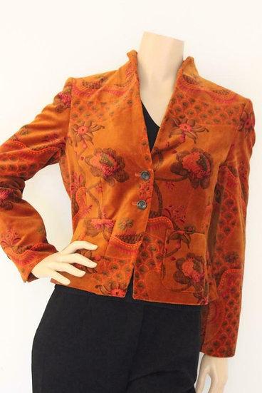 Josephine & Co - Oranjerood velours jasje, maat 38