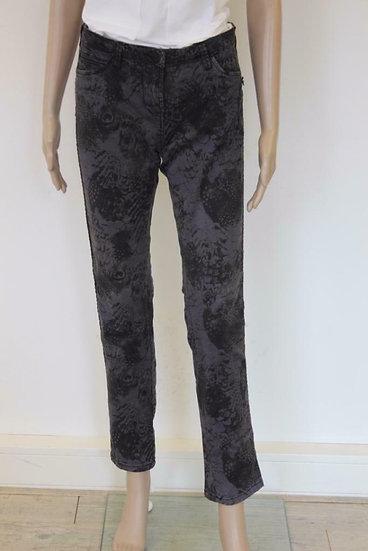 Maison Scotch - Grijze broek met zwart motief, maat 29-32