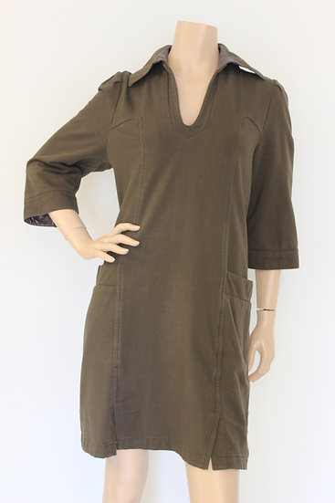 DAITE - Legergroene jurk, maat 40