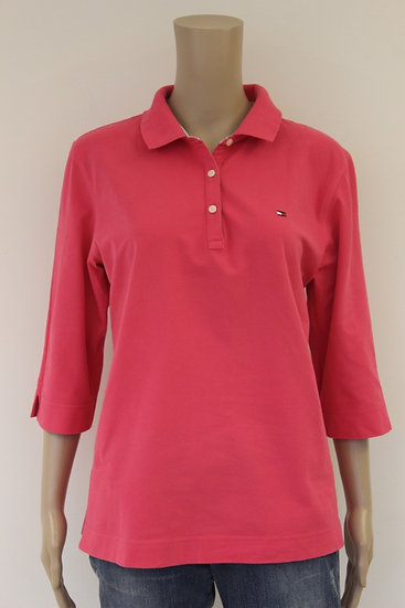 Tommy Hilfiger - Roze polo, maat 42/44