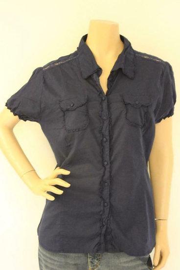 Dept - Blauwe blouse, maat 44/46