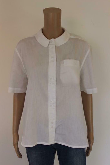 Lady Arrow - Witte vintage blouse, maat 42