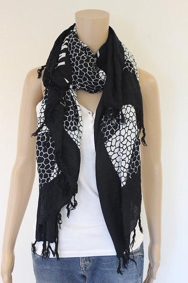 Zwart/witte sjaal
