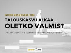 Talouskasvu alkaa... Oletko valmis?