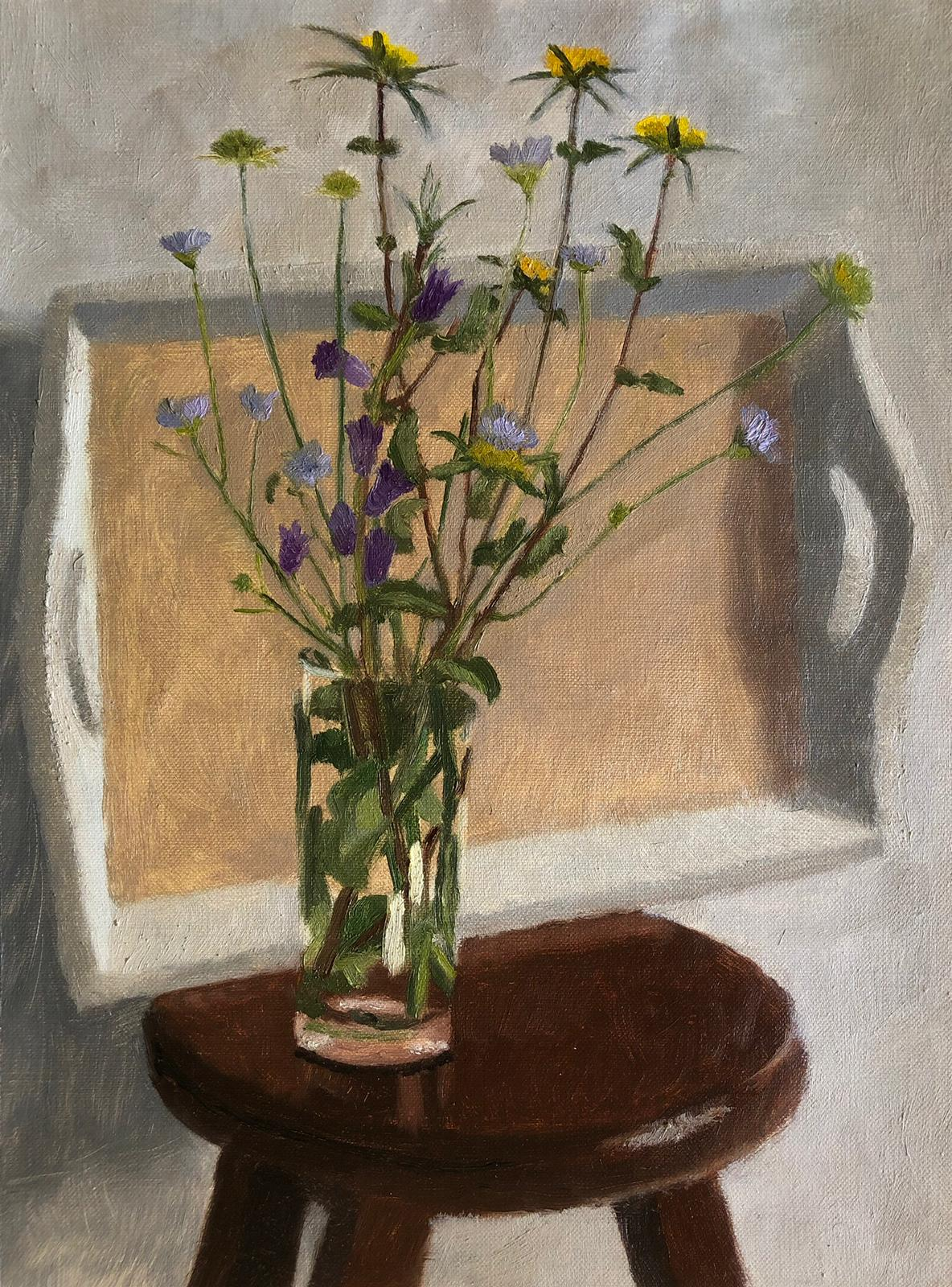Spring Flowers with Tray
