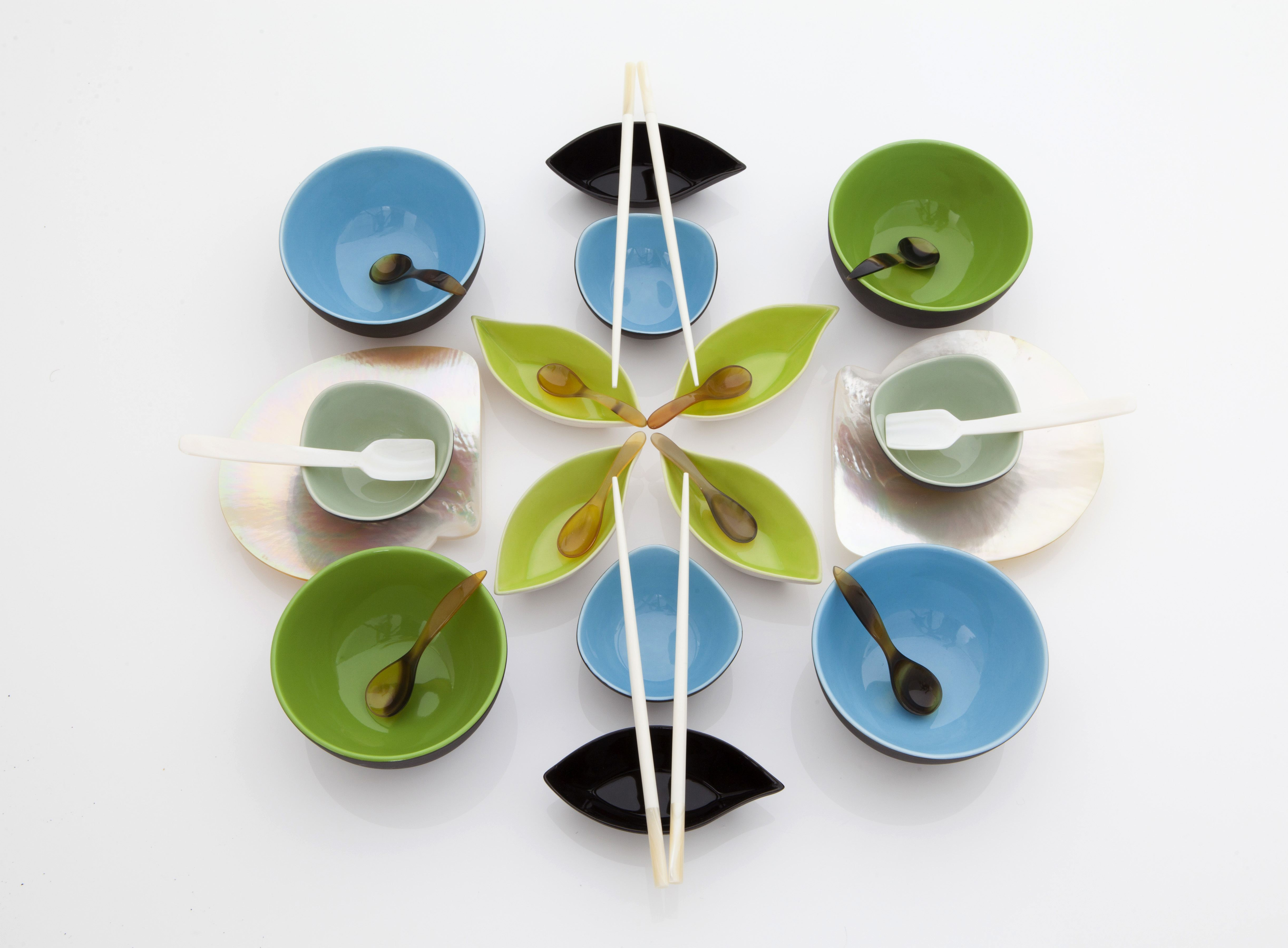 Isabelina Asian Servingware Bowls from R95, mother-of-pearl chopsticks R75