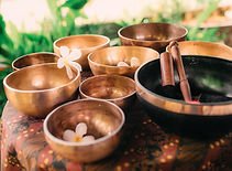 Set of tibetan singing bowls for yoga, s