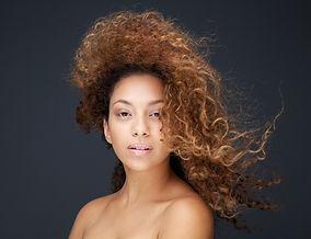 Model med Wind Swept hår