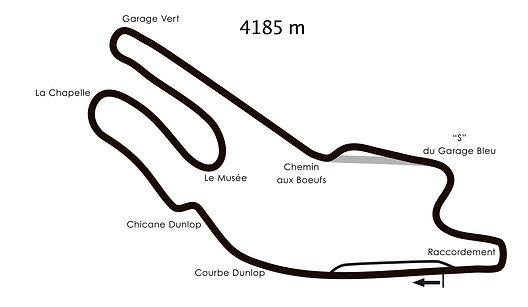 Le mans plan du circuit