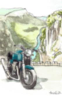 Aquarelle Moto