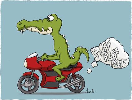 Dessin croco moto