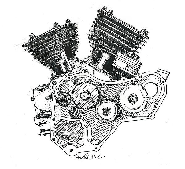 illustraion moteur moto