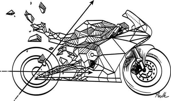 illustration moto