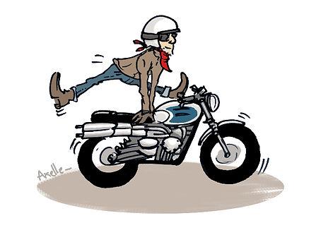 illustration motard
