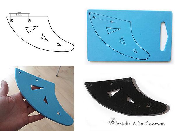 fabriquer une dent de requin