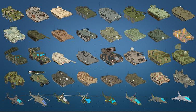 List of unit 3D Modeling