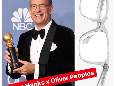 Tom Hanks In Oliver Peoples At 77th Annual Golden Globe Awards