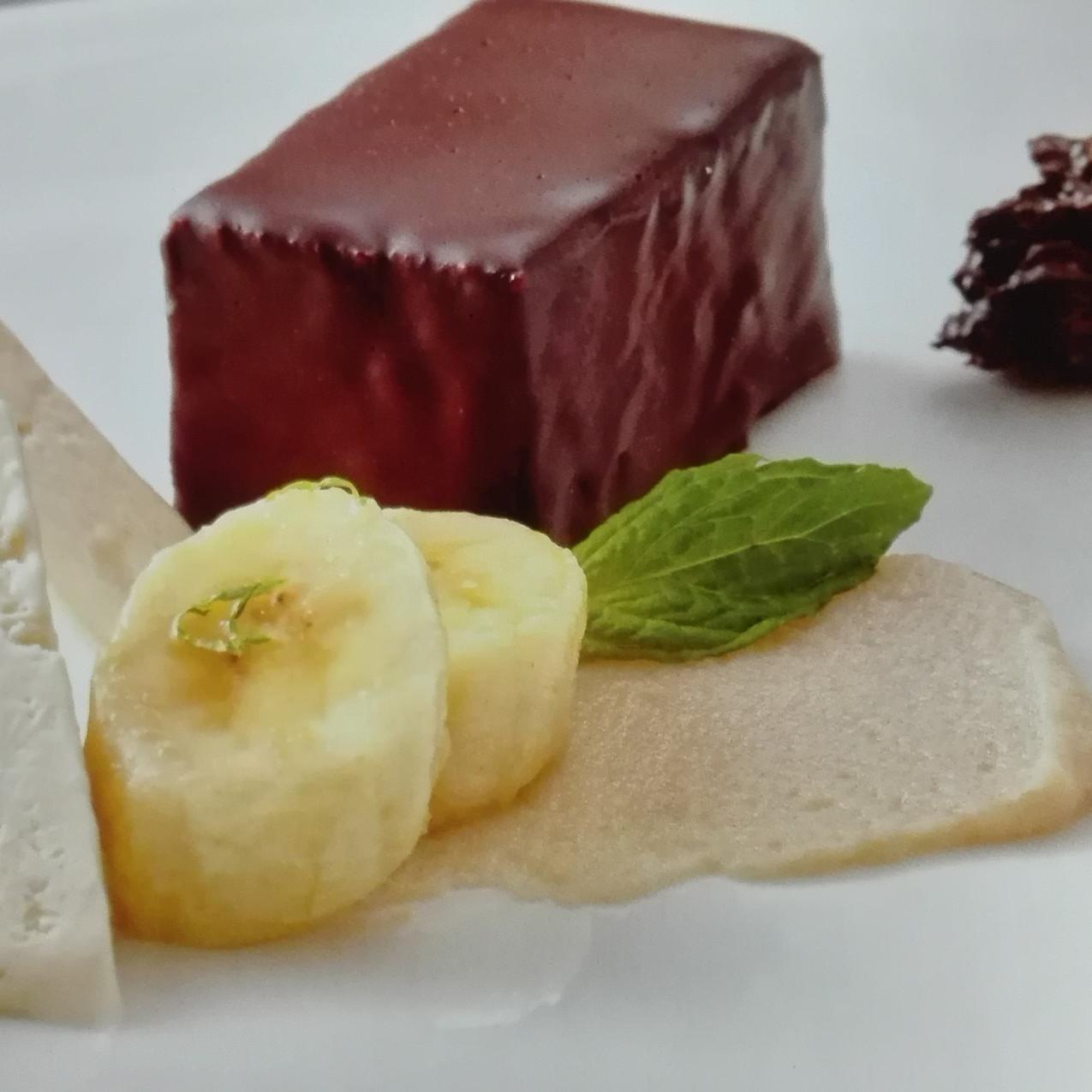 Schokobisquit, Schokoladencreme,Bana